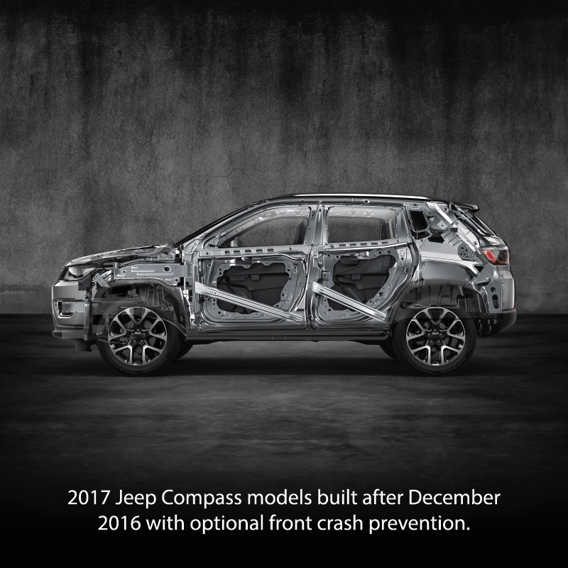 jeep compass earns iihs top safety pick rating for 2017fca work vehicles blog. Black Bedroom Furniture Sets. Home Design Ideas